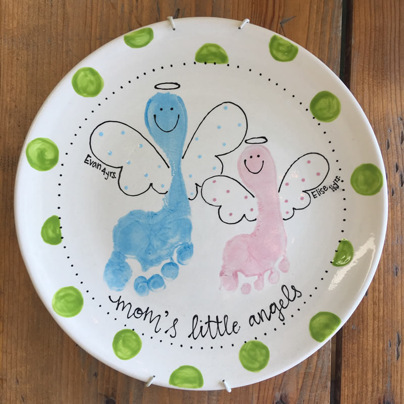 Mother's Angel Footprint Plate