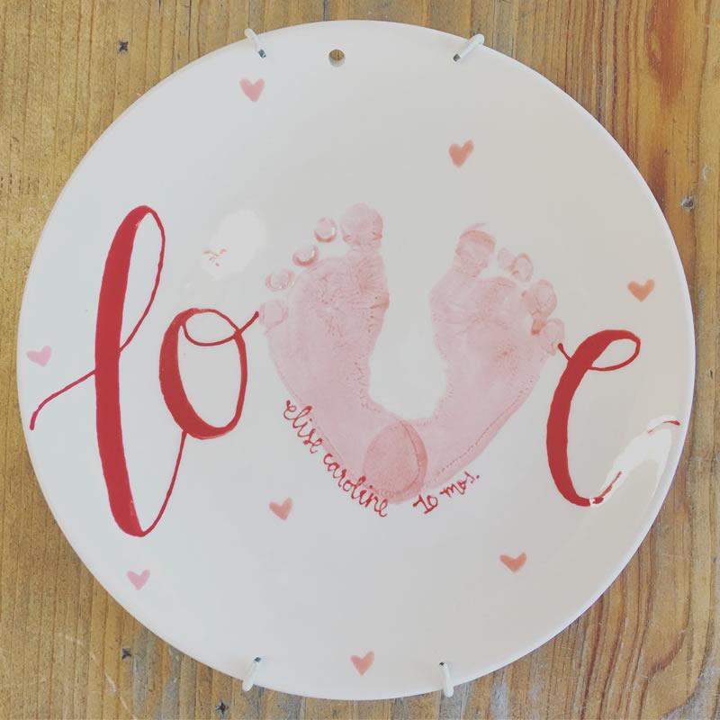Custom Painted Plates Hand Print Plates Custom Painted Pottery Amarillo Texas