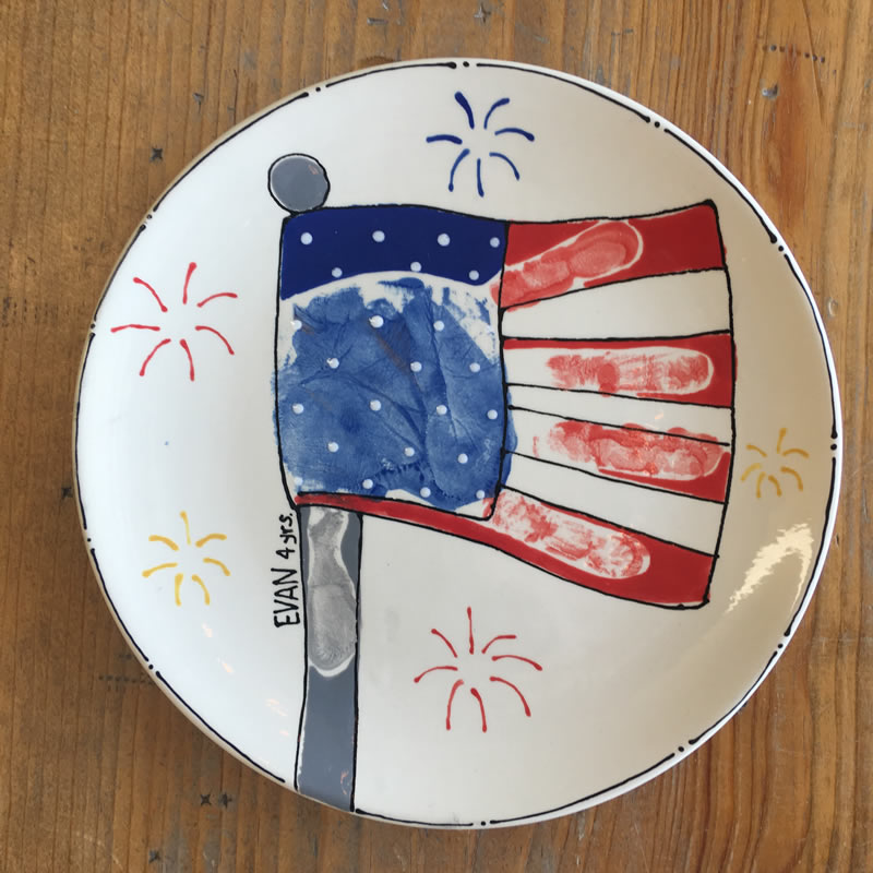 4th of July Cutie Pie Plate