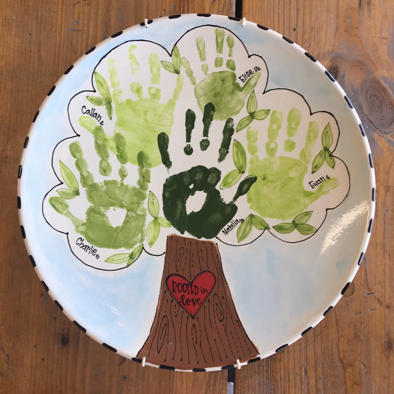 Cutie Pie Family Tree Plate