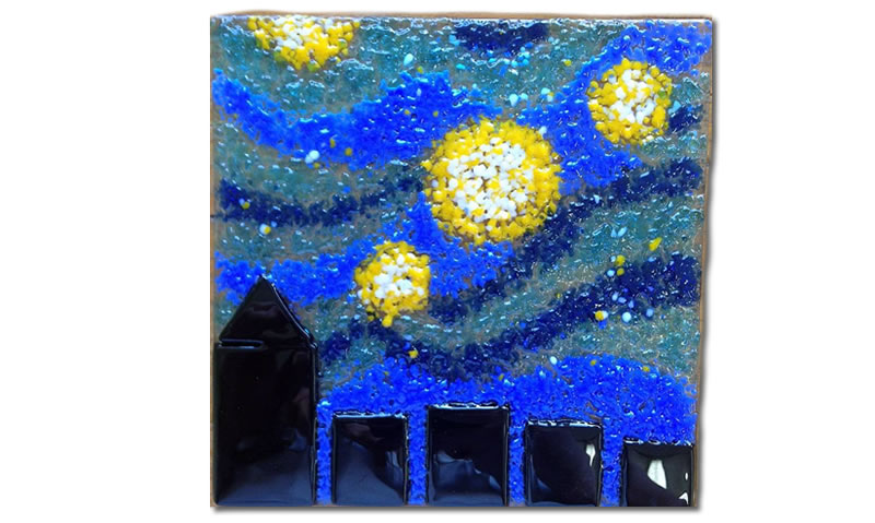 Starry night trivet
