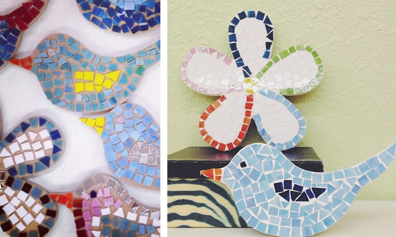Spring theme mosaic projects